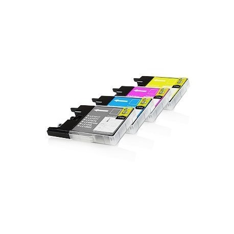 PACK de 5 Brother LC1280 (2x Noir, Cyan, Magenta, Jaune)
